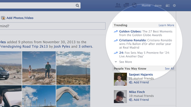 Facebook lance «Trending Topics»